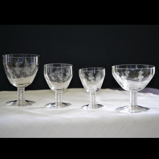 Service de verres cristal ancien