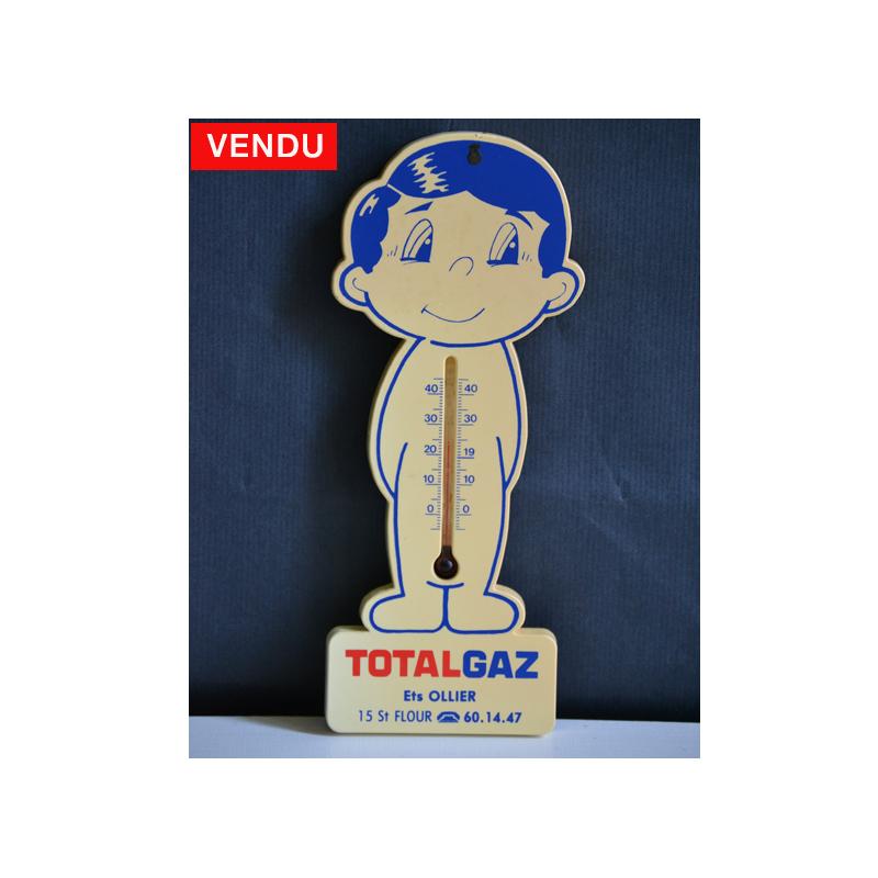 Thermomètre publicitaire ancien Totalgaz