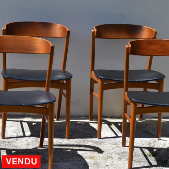 Et Noir 1960 Chaises Cuir Design Teck Simili Farstrup Scandinaves xoQeWCrdB