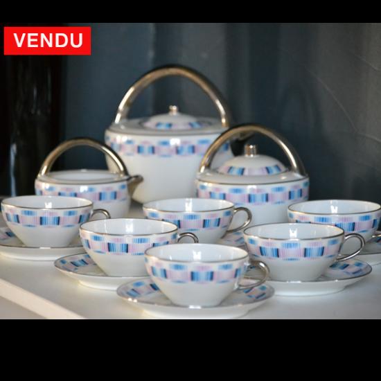 Service à thé en porcelaine 1930 ART DECO