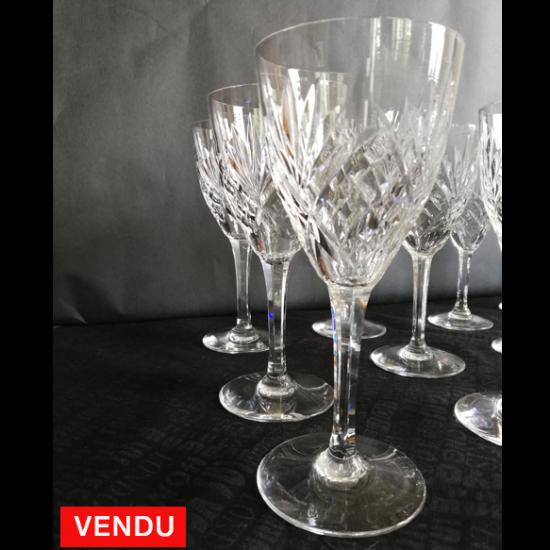 Service de verres cristal Saint Louis - modèle Chantilly - 62 pièces
