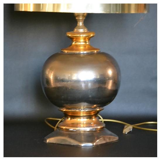 Lampe en céramique lustrée 75 cm attribuée aux ateliers Menelika 1970