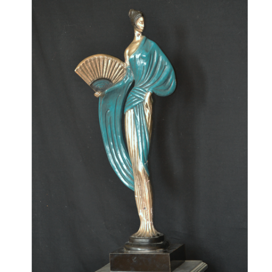 STATUT GEISHA ART DECO  Signée FISHER