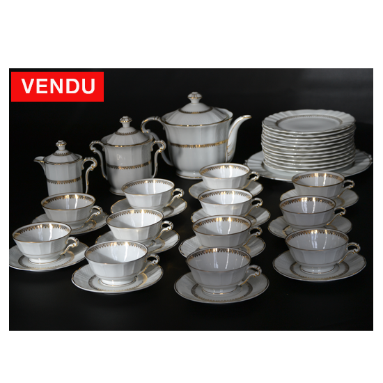 Bernardaud et Cie - Service à dessert et thé porcelaine de Limoges
