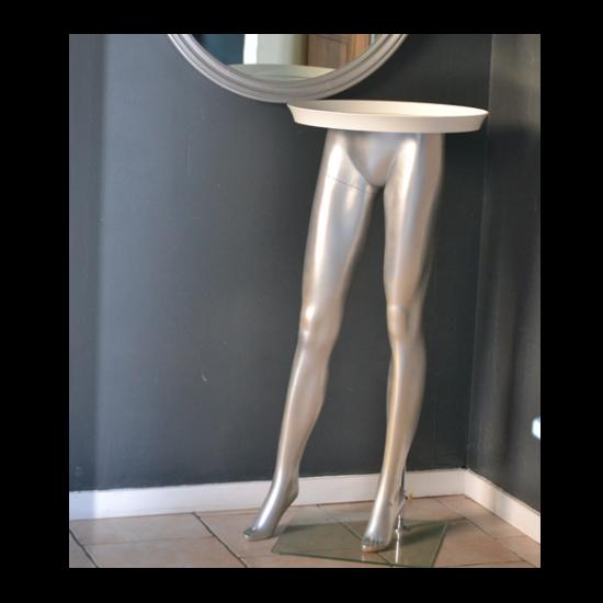 console originale jambe mannequin. Black Bedroom Furniture Sets. Home Design Ideas